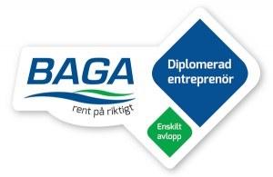 BAGA Diplomerad entreprenör enskilt avlopp